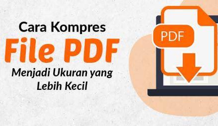 cara kompres file pdf mudah banget
