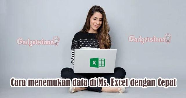 Cara menemukan data dengan cepat di Ms. Excel