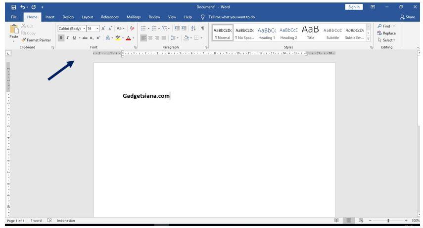 Cara Menampilkan Menu Bar Ms Word