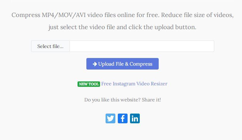 cara kompress video secara online