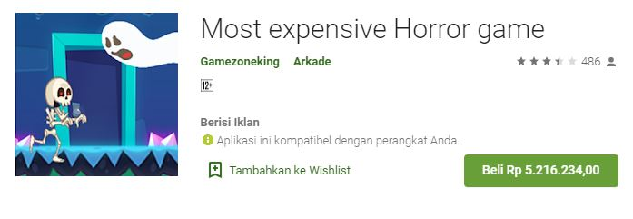 Most expensive Horror game