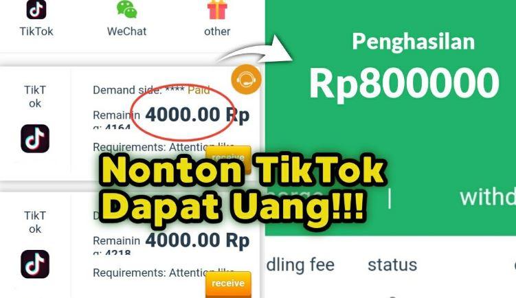 Cara dapatkan uang dari TikTok