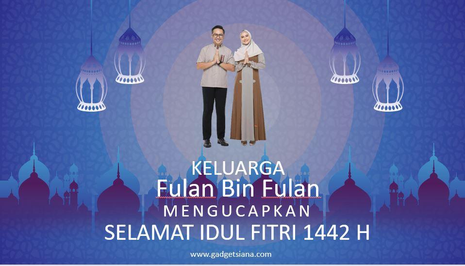 Template Ucapan Selamat idul Fitri 1442 H